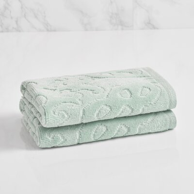 Trellis Sculpted Jacquard Washcloth Color: Sterling Blue