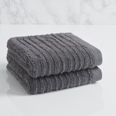 Tarsha Solid Hand Towel Color: Steel Grey