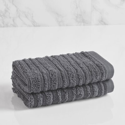 Tarsha Solid Washcloth Color: Steel Grey