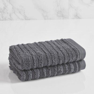 Tarsha Solid Washcloth Color: Steel Grey