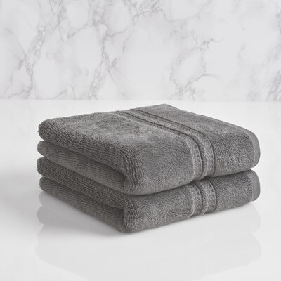 Wyrick Solid Hand Towel Color: Charcoal