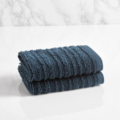 Cascading Solid Washcloth Color: Midnight Blue