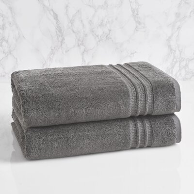 Essentials Solid Bath Towel Color: Charcoal