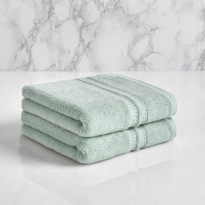 Wyrick Solid Hand Towel Color: Sterling Blue