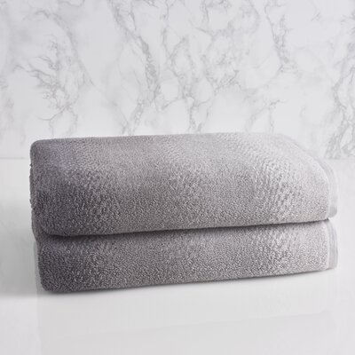 Allegra Ombre Bath Towel Color: Pewter