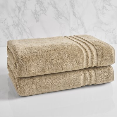 Essentials Solid Bath Towel Color: Stone
