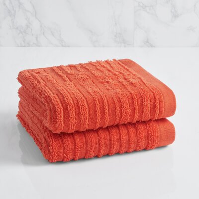 Cascading Solid Hand Towel Color: Sunset Orange