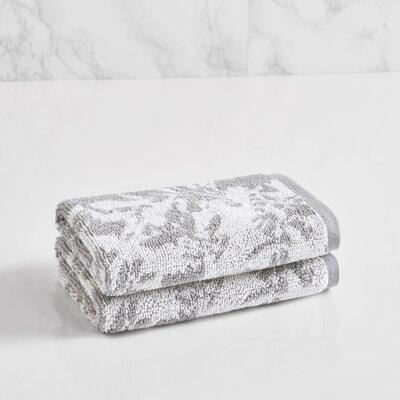 Floral Block Washcloth Color: Soft Silver/Sugar Swizzle