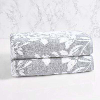 Lavalle Bath Towel Color: Soft Silver/Sugar Swizzle