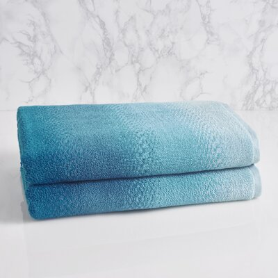 Allegra Ombre Bath Towel Color: Sterling Blue