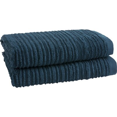 Tarsha Solid Oversized Bath Towel Color: Midnight Blue