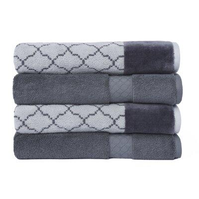 Lablanc 4 Piece Bath Towel Set Color: Gray