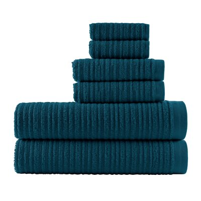 Blair Solid 6 Piece Towel Set Color: Midnight Blue