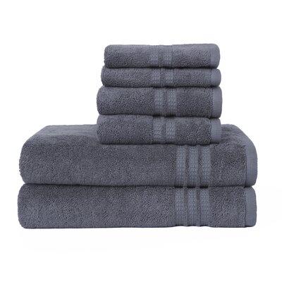 Modern Home Trends 6 Piece Towel Set Color: Steel Gray