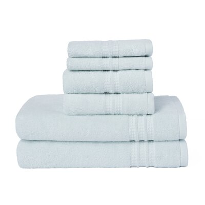 Timmons 6 Piece Towel Set Color: Porcelain
