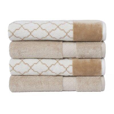 Lablanc 4 Piece Bath Towel Set Color: Linen