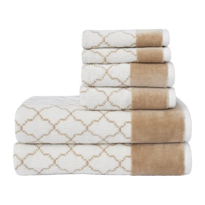Labrieville 6 Piece Towel Set Color: Linen