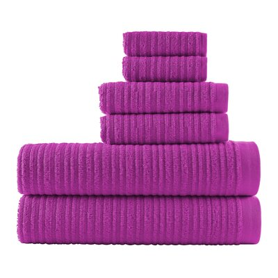 Blair Solid 6 Piece Towel Set Color: Fuchsia