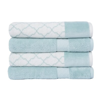 Lablanc 4 Piece Bath Towel Set Color: Aqua
