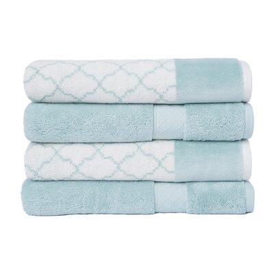 4 Piece Bath Towel Set Color: Aqua