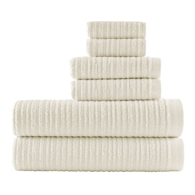 Blair Solid 6 Piece Towel Set Color: Sugar Swizzle