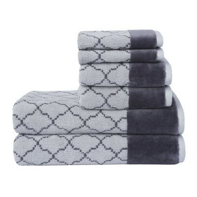 Labrieville 6 Piece Towel Set Color: Gray
