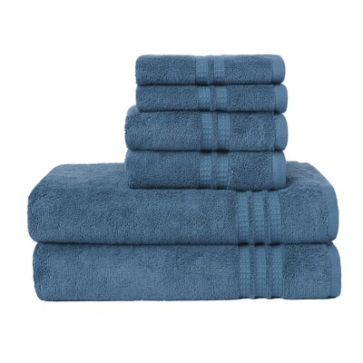 Modern Home Trends 6 Piece Towel Set Color: Teal