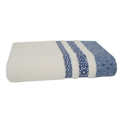 Embroidery Cotton Bath Towel Color: Maritime Blue