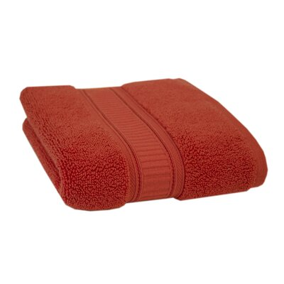 Solid Cotton Hand Towel Color: Coral