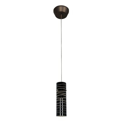 Zeta Anari 1-Light Pendant Shade Color: Black Lined
