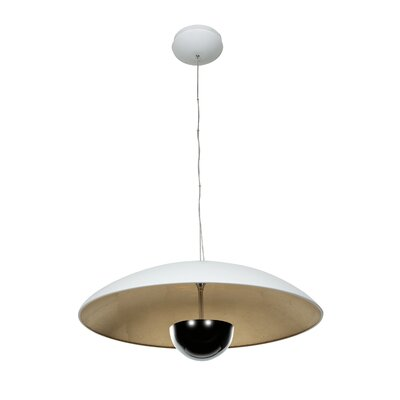 Pulsar 1-Light Pendant Finish: Silver, Size: 129 H x 24 W x 24 D