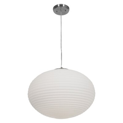 Access Lighting C50181BSOPLEN1313B Callisto 3 Light Incandescent Pendant in Brushed Steel 757777