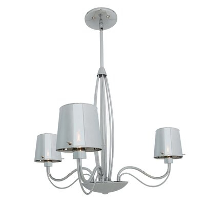 Nowell 3-Light Shaded Chandelier