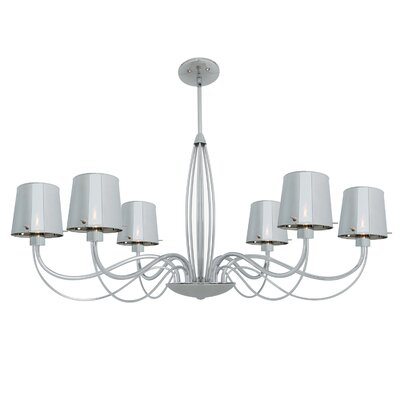 Milano 6-Light Shaded Chandelier