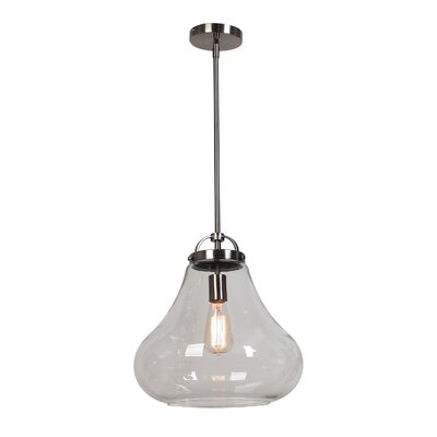 Weatherspoon 1-Light Pendant Shade Color: Clear, Size: 59.25 H x 12 W x 12 D
