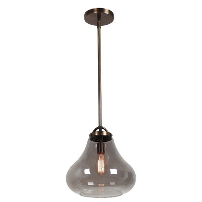 Weatherspoon 1-Light Pendant Shade Color: Smoke, Size: 59.25 H x 12 W x 12 D