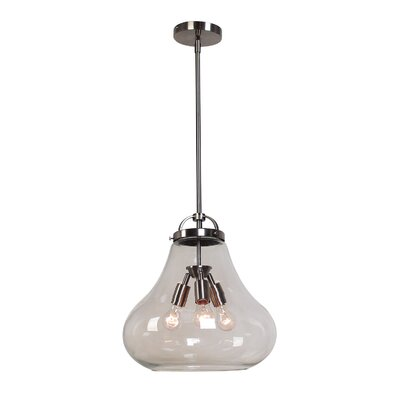 Flux 3-Light Pendant Shade Color: Clear