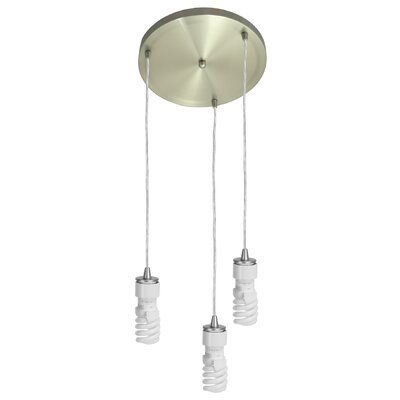 Noonkester 3-Light Cascade Pendant Finish: Brushed Steel