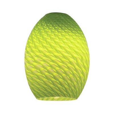 Modern 6 Glass Oval Pendant Shade Color: Light Green Firebird