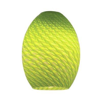 FireBird 6 Glass Oval Pendant Shade Color: Light Green Firebird