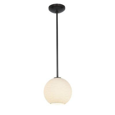 Weber 1-Light Mini Pendant Finish: Oil Rubbed Bronze, Size: 155 H x 10 W x 10 D, Stem Type: Rod