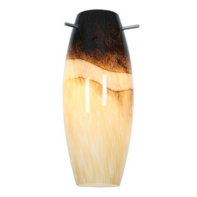 Cabernet 4.9 Glass Oval Pendant Shade Color: Sand Slate