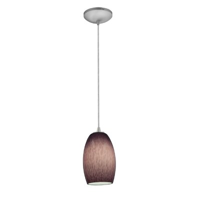 Chianti 1-Light Pendant Finish: Brushed Steel, Stem Type: Cord, Bulb Type: Fluorescent