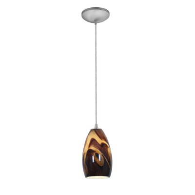 Champagne 1-Light Pendant Finish: Brushed Steel