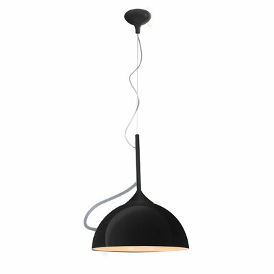 Marjorie 1-Light Inverted Pendant Finish: Black