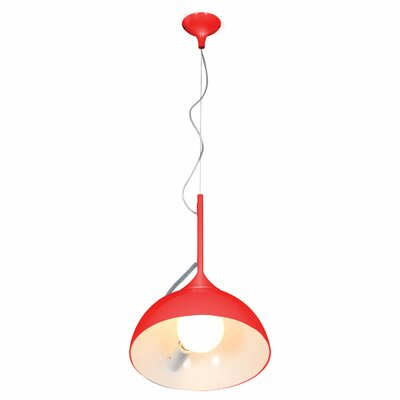 Marjorie 1-Light Inverted Pendant Finish: Red Firebird