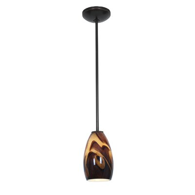 Carballo Modern 1-Light Hardwired Pendant Finish: Oil Rubbed Bronze