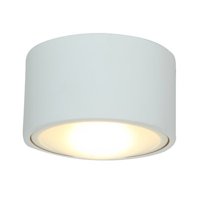 Ares 1-Light Flush Mount Bulb Type: LED, Shade Color: White