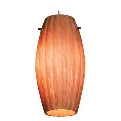 Modern 5.5 Glass Oval Pendant Shade Glass Color: Amber Marble