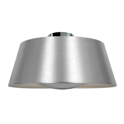 SoHo 3-Light Flush Mount Finish: Brushed Silver